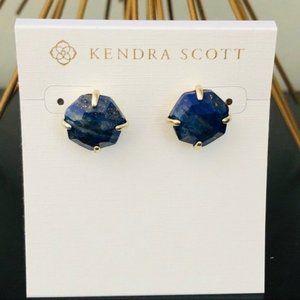 Kendra Scott Ryan Stud Earrings, Blue, NWT